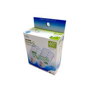 (まとめ)オーム電機電球形蛍光灯エコ電球D形60形E26昼光色EFD15ED/12-SPN-2P1パック(2個)【×5セット】