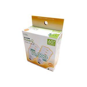 (まとめ)オーム電機電球形蛍光灯エコ電球D形60形E26電球色EFD15EL/12-SPN-2P1パック(2個)【×5セット】