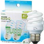 (まとめ)オーム電機 電球形蛍光灯 エコ電球 D形40形 昼光色 EFD10ED/8-SPN-2P 1パック(2個)【×5セット】