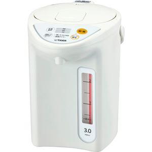 タイガー魔法瓶マイコン電動ポット3LホワイトPDR-G301W1台