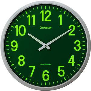 ラドンナ電波掛時計ザラージ集光・蓄光文字盤GDKS-0011台