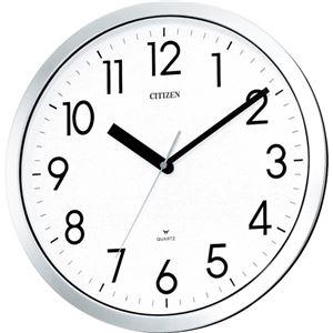 シチズン強化防滴防塵時計クロームメッキ(白)4MG522-0501台