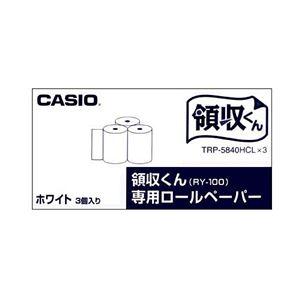 (まとめ)カシオ電子レジスター用ロールペーパー紙幅58mmTRP-5840HCL*31パック(3個)【×5セット】