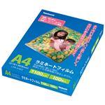 (まとめ)ナカバヤシ ラミネートフィルム A4100μ LPR-A4E2 1パック(100枚)【×3セット】