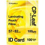 (まとめ)ヒサゴ フジプラ ラミネートフィルムIDカードサイズ 100μ CP1005782Y 1パック(100枚)【×20セット】
