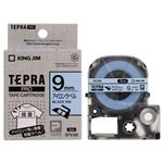 (まとめ)キングジム テプラ PROテープカートリッジ アイロンラベル 9mm 青/黒文字 SFS9B 1個【×5セット】