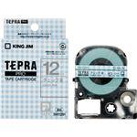 (まとめ)キングジム テプラ PROテープカートリッジ 模様ラベル 12mm チェック青/グレー文字 SWX12BH 1個【×5セット】