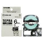 (まとめ)キングジム テプラ PROテープカートリッジ マットラベル 6mm 白/黒文字 SB6S 1個【×5セット】