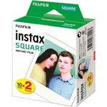 (まとめ)富士フイルム インスタントカラーフィルムinstax SQUARE ホワイト 1箱(20枚:10枚×2パック)【×3セット】