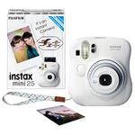 富士フイルム インスタントカメラ チェキinstax mini25 ホワイト 純正ハンドストラップ付 INSMINI25 WHITE N 1台