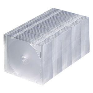 (まとめ)サンワサプライBlu-ray・DVD・CDケース(スリムタイプ)クリアFCD-PU50CLN1パック(50枚)【×3セット】