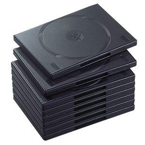 (まとめ)エレコムDVDトールケース2枚収納ブラックCCD-DVD06BK1パック(10枚)【×5セット】