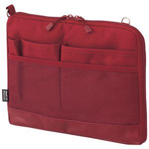 (まとめ)リヒトラブ SMART FITACTACT バッグインバッグ (ヨコ型) A5 レッド A-7680-3 1個【×3セット】