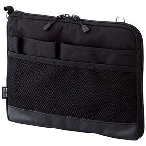 (まとめ)リヒトラブ SMART FITACTACT バッグインバッグ (ヨコ型) A5 ブラック A-7680-24 1個【×3セット】