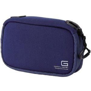 (まとめ)エレコム デジタルカメラケースGRAPH GEAR ソフトタイプ ブルー DGB-062BUD 1個【×3セット】