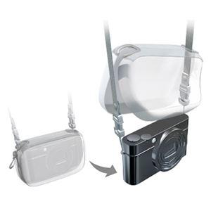 (まとめ)エレコム デジタルカメラケースGRAPH GEAR ソフトタイプ レッド DGB-062RD 1個【×3セット】