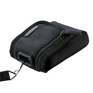 (まとめ)エレコム 首ひも付デジタルカメラケース面ファスナータイプ Mサイズ ブラック DGB-056BK 1個【×5セット】