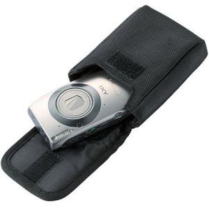 (まとめ)エレコム 首ひも付デジタルカメラケース面ファスナータイプ Mサイズ レッド DGB-056RD 1個【×5セット】