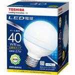 (まとめ)東芝ライテック LED電球 ボール電球形40W形相当 3.7W E26 昼白色 LDG4N-G/G70/40W 1個【×3セット】