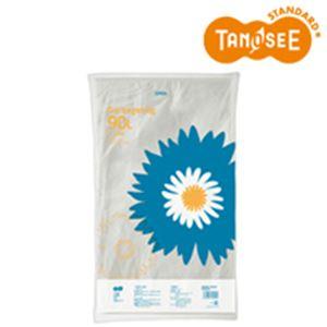 (まとめ)TANOSEE ゴミ袋 半透明 90L 20枚入×15パック
