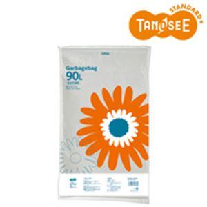 (まとめ)TANOSEE ゴミ袋 乳白半透明 90L 20枚入×15パック