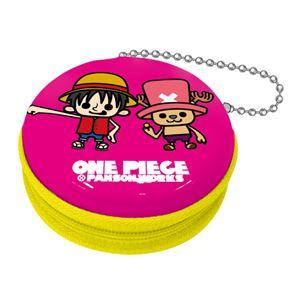 【ワンピース×パンソンワークス】ジッパー缶 vol.2(ルフィ・チョッパー ピンク)