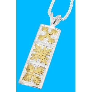 ハワイアン♪トリプルキルトプレートネックレス h01