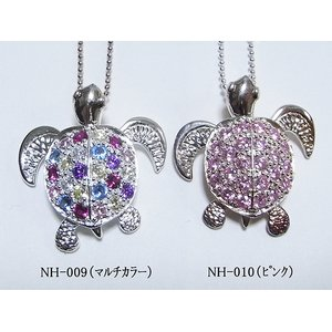 ハワイアン♪クリスタルHONU(ホヌ)ネックレス/マルチカラー h01