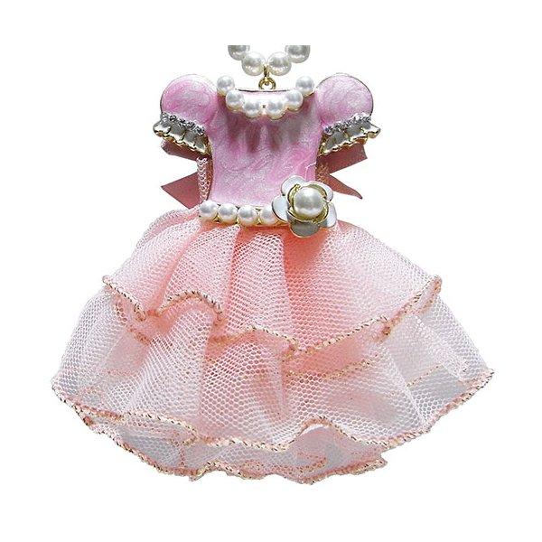 大人可愛い♪ドレスアップチャームネックレス/ピンクf00