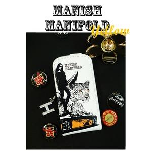 MrH(ミスターエイチ)スマホケースマニッシュマニフォールド/イエロー GalaxyS3
