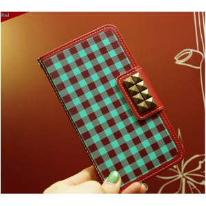 MrH(ミスターエイチ)スマホケース/アロンギングフォーカントリーギンガムBy iphone4/4S
