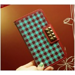 MrH(ミスターエイチ)スマホケース/アロンギングフォーカントリーギンガムBy iphone6