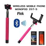 Bluetooth 自撮り棒(セルカ棒)/ピンク