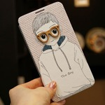 MrH(ミスターエイチ)スマホフリップケース/ボーイ&ガール(ボーイ)Byiphone6plus