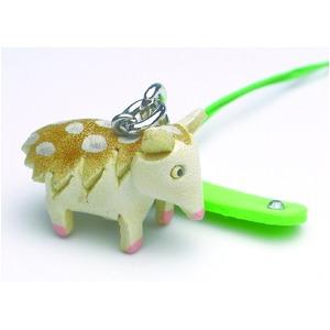 日本製牛革仕様のハンドメイドアニマルストラップ/ハリネズミの写真1