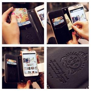 MrH(ミスターエイチ)スマホウォレットケース/マドモアゼルByiphone6plus(チェーン付)