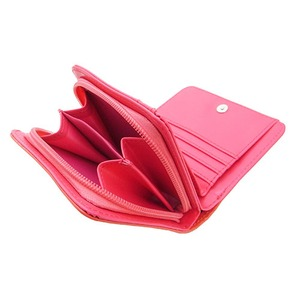 スライドミラー付二つ折り財布/イエロー