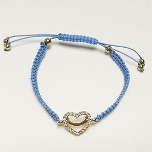 ハートチャーム細編みコードブレス(ブルー)の関連商品5
