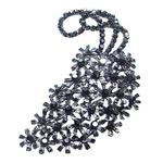 大きなアンティーク花束ブローチ/ブラック