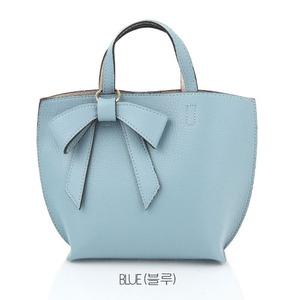 ミニサイズ♪柔らか素材のリボンチャーム2WayバッグS/ブルー h01