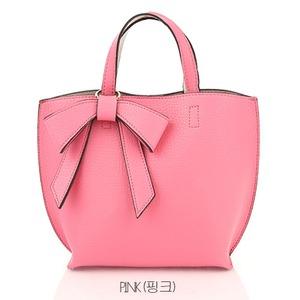 ミニサイズ♪柔らか素材のリボンチャーム2WayバッグS/ピンク h01