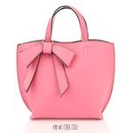 ミニサイズ♪柔らか素材のリボンチャーム2WayバッグS/ピンク