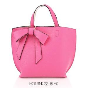 ミニサイズ♪柔らか素材のリボンチャーム2WayバッグS/ホットピンク h01