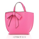 ミニサイズ♪柔らか素材のリボンチャーム2WayバッグS/ホットピンク