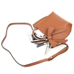 ミニサイズ♪柔らか素材のリボンチャーム2WayバッグS/ミリタリーグレイ