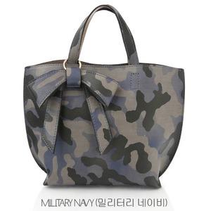 ミニサイズ♪柔らか素材のリボンチャーム2WayバッグS/ミリタリーネイビー h01