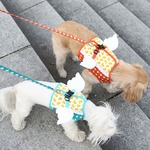 Its Dog(イッツドッグ) マイエンジェルベストハーネス・バブル/ブルー【XL】