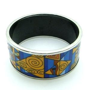 陶器(エマイユ)使いのワイドバングル/ブルー...の関連商品10