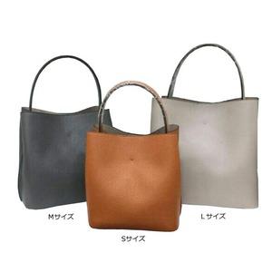 柔らか素材のダブルポケット2wayトート【Mサイズ】 ミリタリーグレイ h03