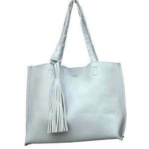 くったり柔らかい♪ビジネスにも普段使いにも使える持ち手長めのトートバッグ/グレイ